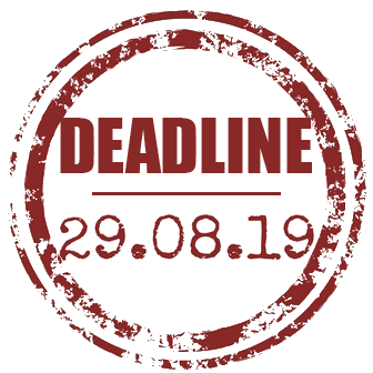 Deadline 28th August 2019